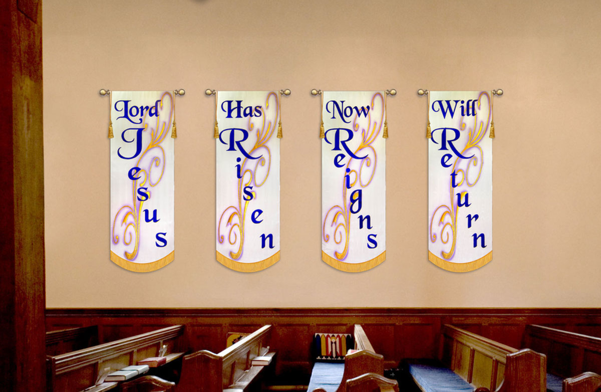 Great set of Liturgical Banners that could be used anytime... especially Easter