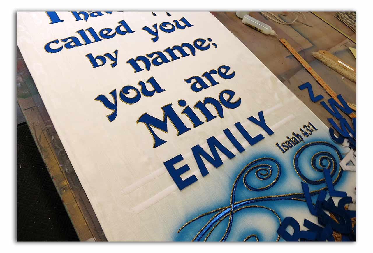 Church Baptism Banner with changable name