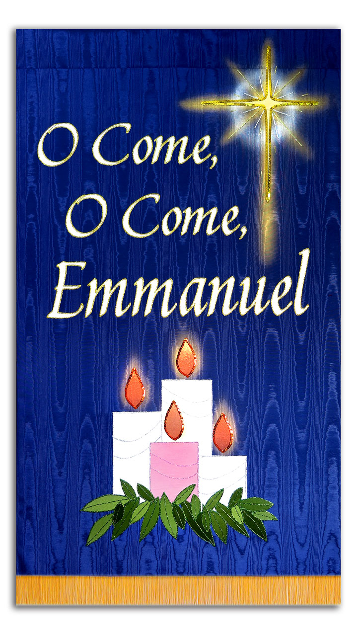Liturgical Church Banner color of blue would be good for seasonal Advent Church Banners
